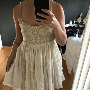 Free people beaded embroidered dress